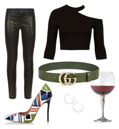 """J club"" by miumiudeleeuw on Polyvore featuring Match, Sans Souci, rag & bone, Dsquared2, Gucci and Ippolita"