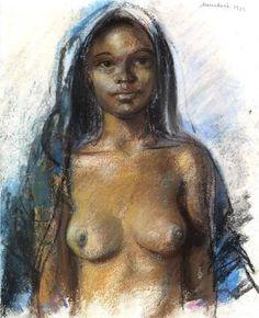 Moroccan girl.Marrakesh. 1932, Zinaida Serebriakova