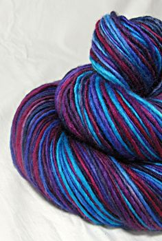 Handspun Yarn Gently Thick and Thin Single by SheepingBeauty, $38.00