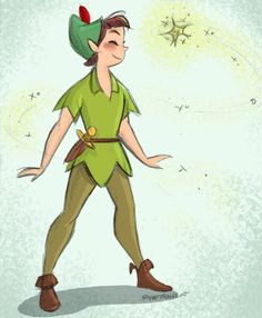 Peter Pan and Tink - Quick color / Steve Thompson / (C) Disney