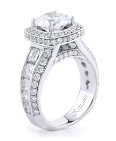 18KW ENGAGEMENT RING, DIAMOND 3.57CT ROYAL COLLECTION