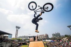 Rider jumps during the World Extreme Games in Shanghai - Vicente Mina/Reuters