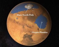 "Scientists have used data from a ground-penetrating radar instrument on the Mars Reconnaissance Orbiter to examine part of a region on Mars called Utopia Planitia and have found large deposits of water ice. According to a NASA statement: ""Analyses of data from more than 600 overhead passes with the onboard radar instrument reveal a deposit more extensive in area than the state of New Mexico. The deposit ranges in thickness from about 80 meters to 170 meters."""