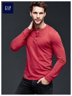 Lived-in solid henley