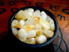 Tumbled Citrine Gemstone - pagan wiccan witchcraft magick ritual supplies