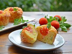 briose-cu-cascaval-si-sunca8 Mozzarella, Baked Potato, Potatoes, Baking, Mai, Ethnic Recipes, Food, Bread Making, Meal