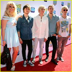 R5 Supports Ross Lynch at the 'Teen Beach 2' Premiere