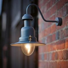 Check out the Wall Mounted Fishing Lamp in Lighting, Wall Lights & Sconces from Garden Trading for Outdoor Wall Mounted Lighting, Outdoor Wall Lighting, Outdoor Walls, Modern Lighting, Outdoor Lantern, Lighting Uk, Balcony Lighting, Outdoor Sconces, Kitchen Lighting
