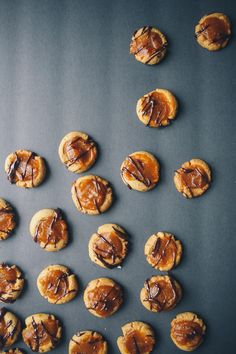 Dark Chocolate Cappuccino Thumbprint Cookies with Maple Pumpkin Butter