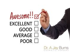 """ANOTHER wonderful review - """"Dr. Burns is a wonderful doctor and I am totally pleased with the results I got from my surgery. I highly recommend Dr. Burns"""" #TestimonialTuesday"""