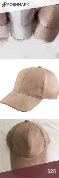 ✨NWOT✨ Taupe Faux Suede Caps High quality faux suede material. Classic baseball cap with a soft faux suede texture. Adjustable buckle in back with ponytail feature. One size fits all. Both for men and women. Available in Taupe/tan color. Brand listed for exposure. NWOT   20% Cotton 80%Polyester Zara Accessories Hats