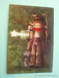 Antigua Postal de navidad de Ferrandiz Pictures To Paint, Print Pictures, Vintage Christmas Cards, Merry Christmas, Book Projects, Illustration, Art Prints, Halloween, Drawings