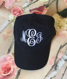 25b2b3cb6ac Monogrammed Baseball Caps. Embroidered Baseball Caps. Ladies baseball hat. Ball  Cap. ID-LP101