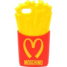 Moschino Moschino Fast Food Iphone 5 Case ($42) ❤ liked on Polyvore featuring accessories, tech accessories, phone cases, cases, electronics, phone, red and moschino