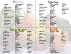Best Guide for How to Eat in Season! More at thedailydoll.com