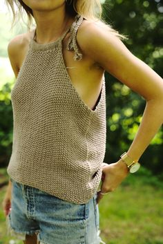 knit halter tank | wool and the gang