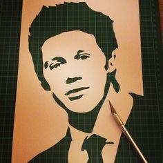 Niall Horan - Single Layer Stencil One Direction by RAMART79.deviantart.com on @deviantART