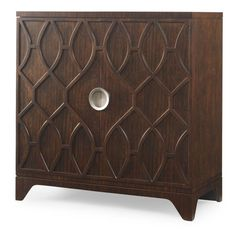 PARAGON DOOR CHEST    Mahogany solids and Mozambique veneer  Behind two doors is a single drawer with felt pad liner above one adjustable shelf