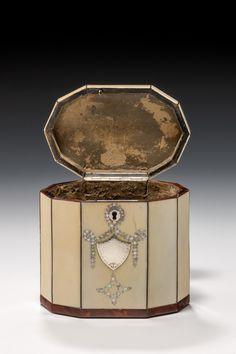 tea caddy a rare and fine late 18th century decagonal ivory tea caddy