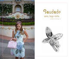 """Use padrões florais com a coleção FLORBELA.  Vai ficar linda!!! ♥  Anel """"Florbela"""" da SAUDADE"""