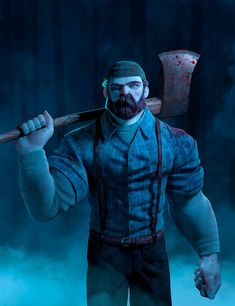 A collaborative project between me and my friend Helio Hespanhol who was responsible for all the modeling. I was responsible for texturing, lighting and rendering. Based on the Randy Bishop´s awesome concept. Man Character, Character Creation, Comic Character, Character Design, Lumberjack Style, The Wolf Among Us, Green Knight, Fred, Modelos 3d