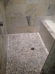 397 Best Shower Pebble Tile And Stone Tile Ideas Images Bathroom