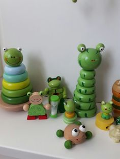 Wooden frog collection