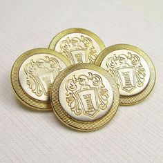 Gold & Silver Coin-Style Buttons