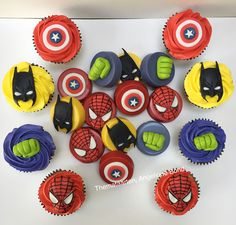 Avengers oreo cookie chocs and cupcakes made by Angelique Bond from the Netherlands