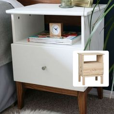 Nice #hack for the #Ikea #Tarva #Bedside #Table #Pine Available #online only from @thewarehousenz a lick of #paint, a bit of #stain and a change of #handles #idea and #photo by #remodel aholic #midcentury #style #thewarehousenzhacks #warehousestyle #furniture #NewZealand  #thewarehousenz #interiors #house #styling #style #hacks #shopthetrend #home #decor #luxeforless