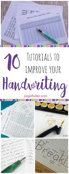Improve your handwriting for journaling