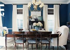 gray blue dining room - Google Search