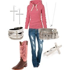 """Cross Cowgirl"" by ashleyelliott-1 on Polyvore"