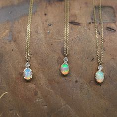 Our Opal Dew Drop necklace is finally done and on its way to do some good in this world #jenniekwondesigns #opals #diamonds