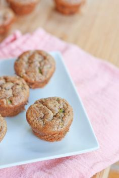 zucchini muffins are made with almond butter and sweetened with maple ...