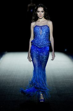 Royal blue evening dress by Walid Atallah. Image by World Fashion Group (CC-BY-ND).