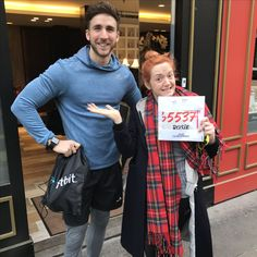 Ready to run its James Stirling & Rosie Percy- Team Fitbit Semi de Paris 2017 UK finishers Stirling, Celebs, Celebrities, Fitbit, Fans, Running, Fitness, Fashion, Moda