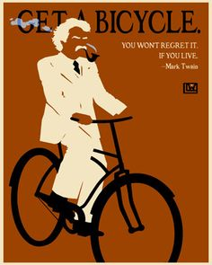Bicycle art – Mark Twain