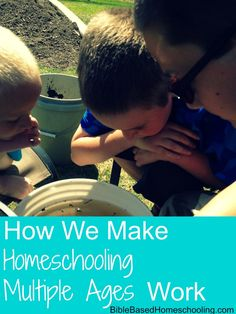 How We Homeschool Multiple Ages