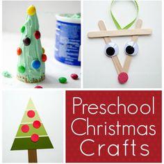 Christmas crafts for Preschoolers. Cute, easy ideas!