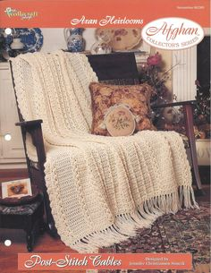 Crochet Afghan Pattern Post-Stitch Cables by KnitKnacksCreations