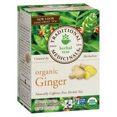 Traditional Medicinals Organic Ginger Herbal Tea 16 ct