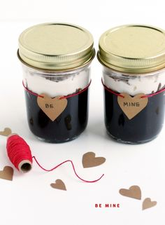 Chocolate Pudding for Two...love the jars