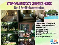 Bed and Breakfast Accommodtion at Stephward Estate B & B, Bed And Breakfast, Special Events, South Africa, Things To Do, Wedding Venues, Coast, Country, Beach