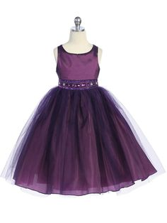 Soft Tulle Dress in Plum