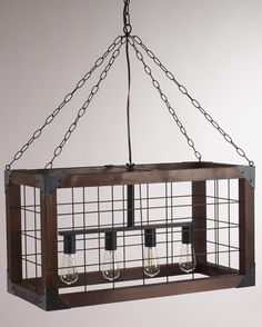 Rectangular Farmhouse Pendant Lamp