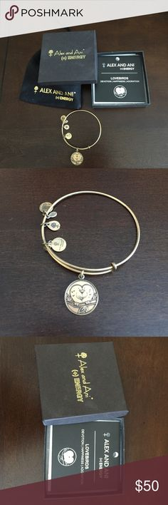 ALEX AND ANI Lovebirds Bangle (discontinued) Great deal for a product no longer sold online! ALEX AND ANI Lovebirds Bangle that is a discontinued style. Comes with ALEX AND ANI official box, drawstring bag, and description card for the Lovebirds Bangle. Comment for questions. WILL consider competitive offers. Alex & Ani Jewelry Bracelets