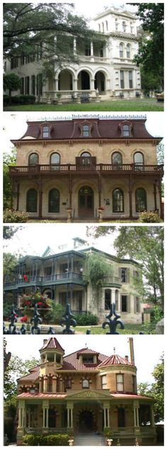 Historical homes in the King William District of San Antonio, TX