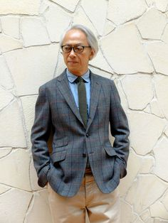 Hirofumi Kurino jacket windowpane