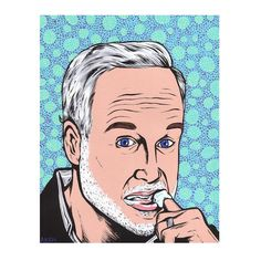 Dr. Leo Marvin by turddemon on Etsy (Art & Collectibles, Prints, outsider, folk, pop art, portrait, funny, actor, comedy, movie, richard dreyfuss, finger, comic, cartoon, art)